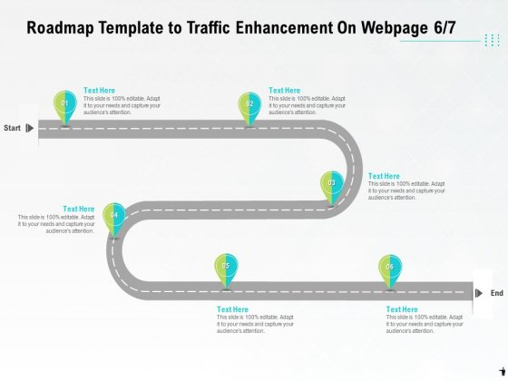 Roadmap Template To Traffic Enhancement On Webpage Six Process Ppt PowerPoint Presentation Model Images PDF