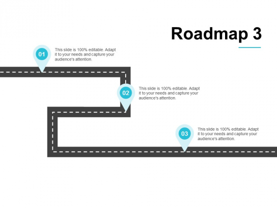 Roadmap Three Process Ppt PowerPoint Presentation Slides Guidelines