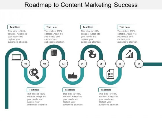 Roadmap To Content Marketing Success Ppt PowerPoint Presentation Model Graphics