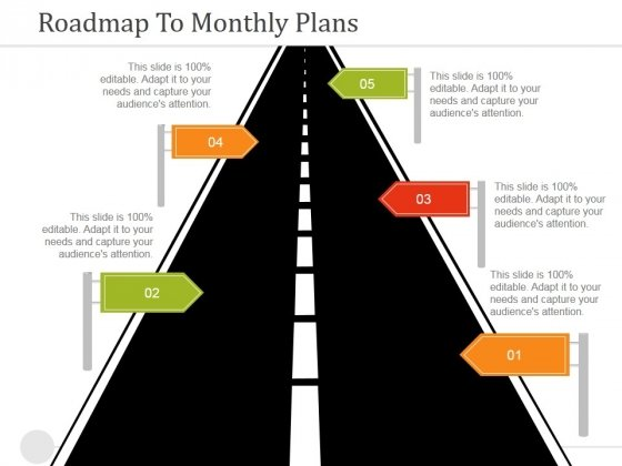 Roadmap To Monthly Plans Ppt PowerPoint Presentation Infographics Show