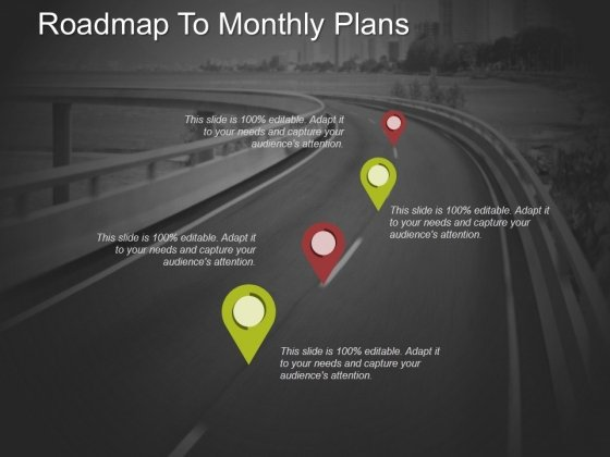 Roadmap To Monthly Plans Ppt PowerPoint Presentation Summary Icon