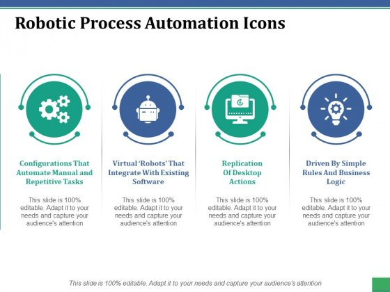 Robotic Process Automation Icons Ppt PowerPoint Presentation Portfolio Styles