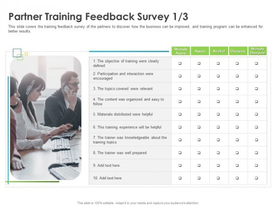 Robust Partner Sales Enablement Program Partner Training Feedback Survey Content Structure PDF