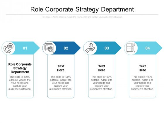 Role Corporate Strategy Department Ppt PowerPoint Presentation Styles Deck Cpb