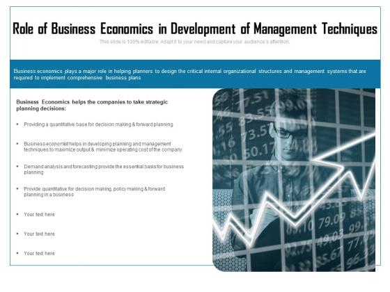 Role Of Business Economics In Development Of Management Techniques Ppt PowerPoint Presentation Icon Diagrams PDF