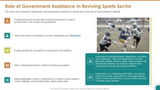 Role Of Government Assistance In Reviving Sports Sector Brochure PDF