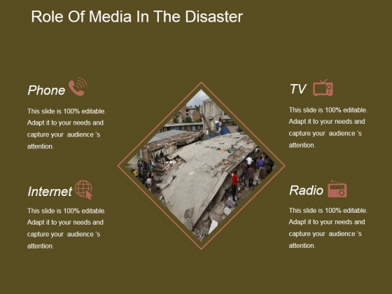 Role Of Media In The Disaster Ppt PowerPoint Presentation Designs Download