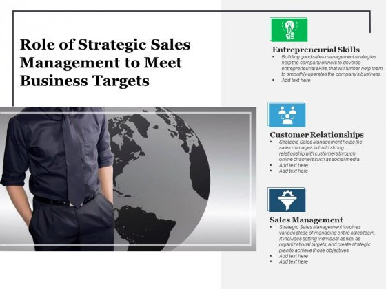 Role Of Strategic Sales Management To Meet Business Targets Ppt PowerPoint Presentation Portfolio Background Designs PDF