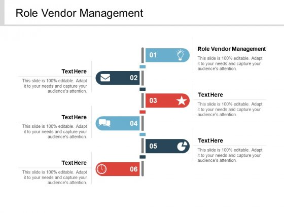 Role Vendor Management Ppt PowerPoint Presentation Infographic Template Influencers Cpb