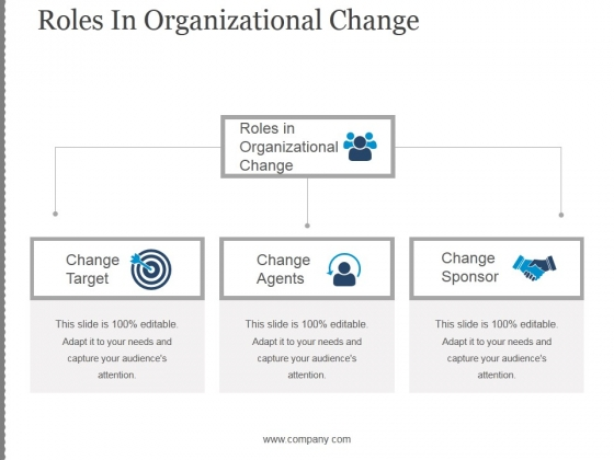 Roles In Organizational Change Ppt PowerPoint Presentation Background Designs