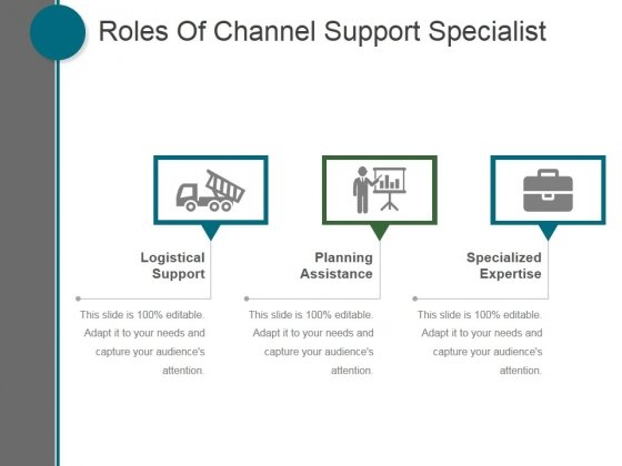 Roles Of Channel Support Specialist Ppt PowerPoint Presentation Shapes