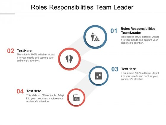 Roles Responsibilities Team Leader Ppt PowerPoint Presentation Visual Aids Infographics Cpb