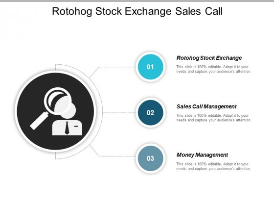 Roto Hog Stock Exchange Sales Call Management Money Management Ppt PowerPoint Presentation Gallery Graphics Design