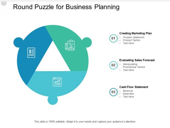 Round Puzzle For Business Planning Ppt PowerPoint Presentation Infographic Template Example