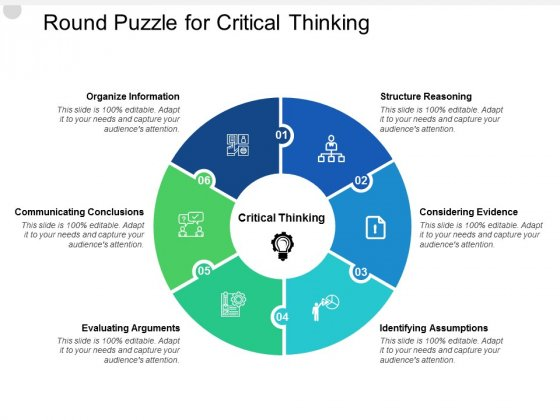 Round Puzzle For Critical Thinking Ppt PowerPoint Presentation Professional Deck