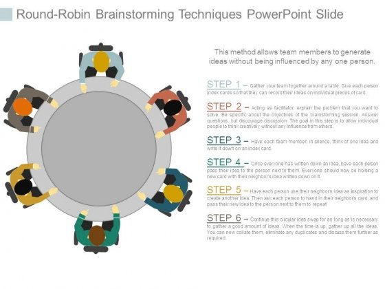 Round Robin Brainstorming Techniques Powerpoint Slide