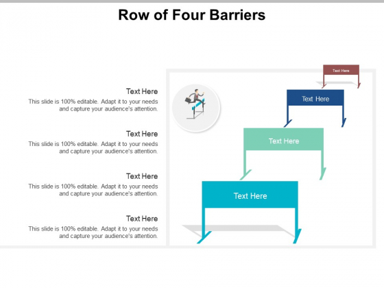 Row Of Four Barriers Ppt PowerPoint Presentation Professional Example File