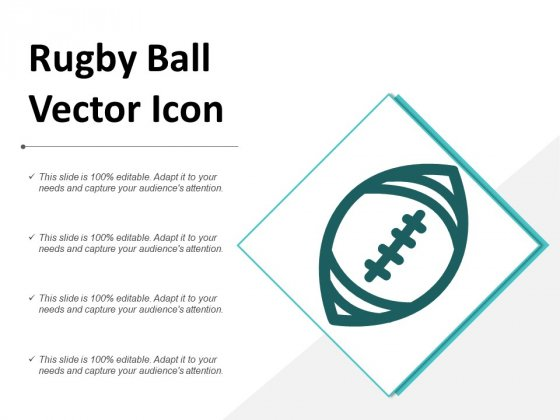 Rugby Ball Vector Icon Ppt PowerPoint Presentation Icon Tips