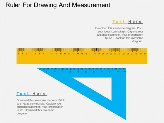 Ruler For Drawing And Measurement Powerpoint Templates