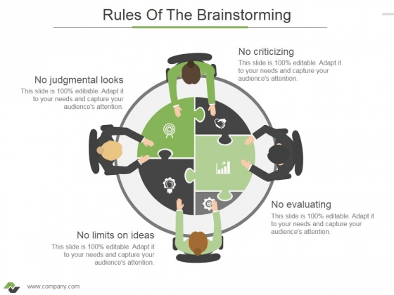 Rules Of The Brainstorming Ppt PowerPoint Presentation Ideas Demonstration