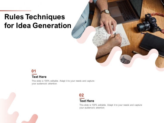 Rules Techniques For Idea Generation Ppt PowerPoint Presentation Professional Graphics