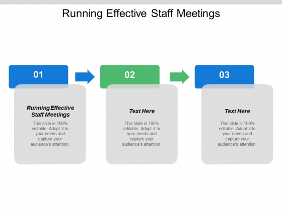 Running Effective Staff Meetings Ppt PowerPoint Presentation Show Display Cpb