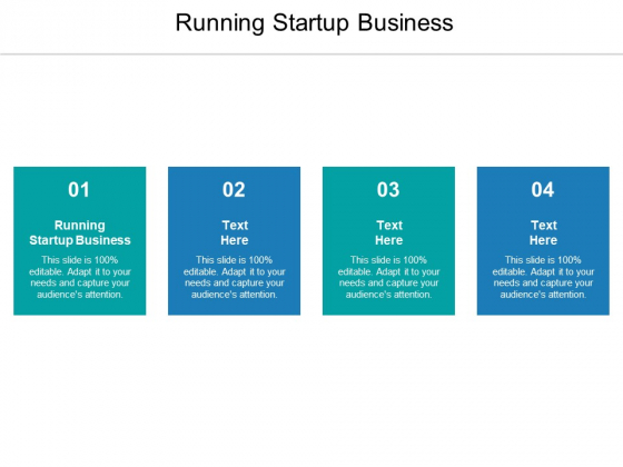 Running Startup Business Ppt PowerPoint Presentation Inspiration Themes Cpb