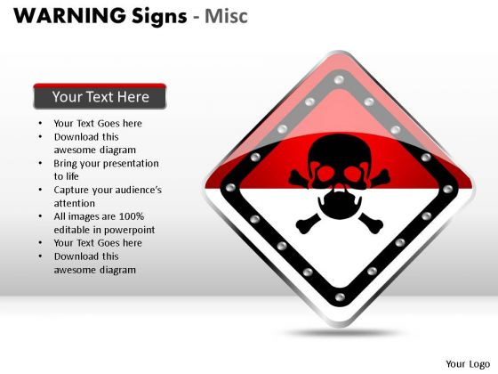 Radioactive Warning Signs PowerPoint Slides And Ppt Diagram Templates