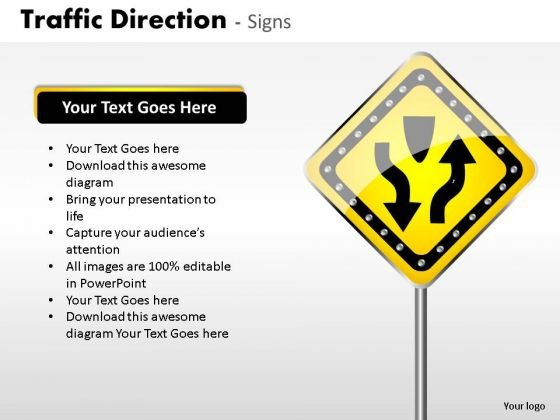 Railroad Traffic Direction PowerPoint Slides And Ppt Diagram Templates