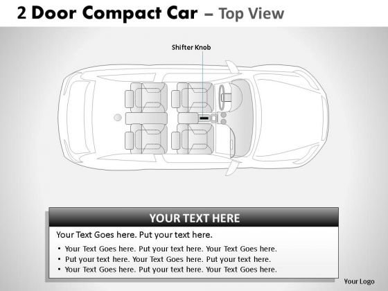 Rapid 2 Door Gray Car Top PowerPoint Slides And Ppt Diagram Templates