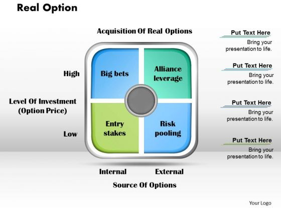 Real Option Business PowerPoint Presentation