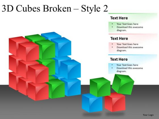 Rebuilding Cubes PowerPoint Slides And Ppt Diagram Templates