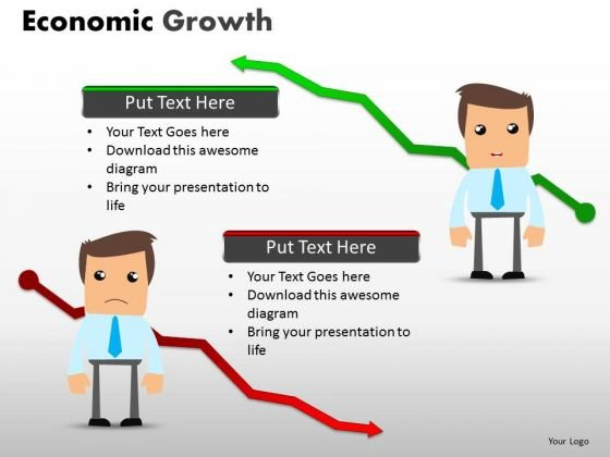 Recession Vs Growing Economy PowerPoint Templates Ppt Slides