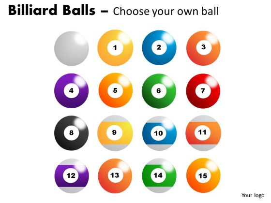 Recreation Billiard Balls PowerPoint Slides And Ppt Diagram Templates