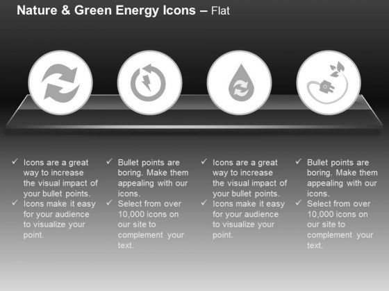 Recycle And Green Energy Icons With Plug And Water Safety Ppt Slides Graphics