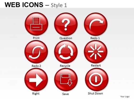 Recycle Web Icons PowerPoint Slides And Ppt Diagram Templates