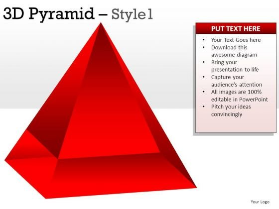 Red 3d Pyramid 1 PowerPoint Slides And Ppt Diagram Templates