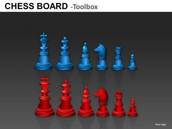 Red And Blue Chess Pieces Graphics