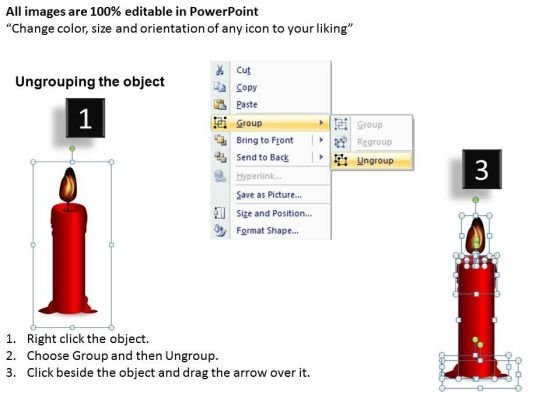 red_candle_melting_diagram_powerpoint_slides_and_ppt_diagram_templates_2