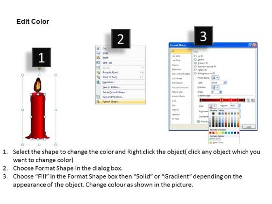 red_candle_melting_diagram_powerpoint_slides_and_ppt_diagram_templates_3