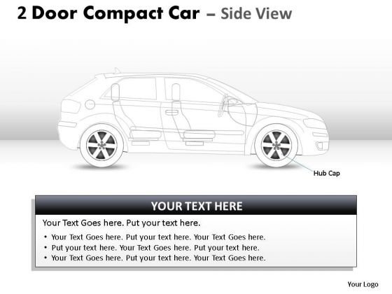 Reflective 2 Door Gray Car Side PowerPoint Slides And Ppt Diagram Templates