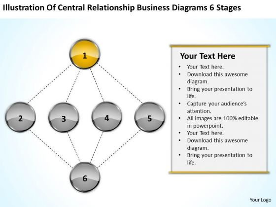 Relationship Business Diagrams 6 Stages Ppt Help With Plan PowerPoint Templates