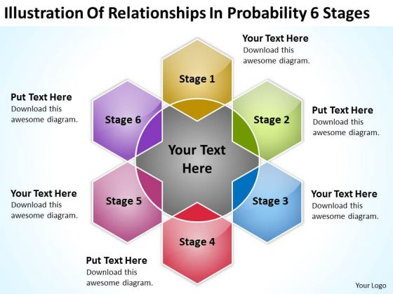 Relationships In Probability 6 Stages Consulting Business Plan PowerPoint Templates