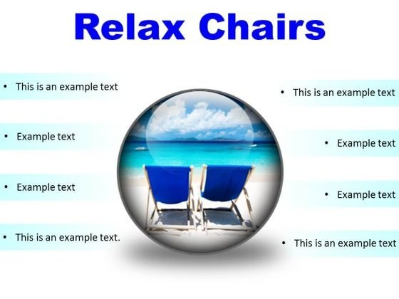Relax Chairs Beach PowerPoint Presentation Slides C