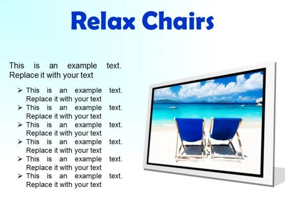 Relax Chairs Beach PowerPoint Presentation Slides F