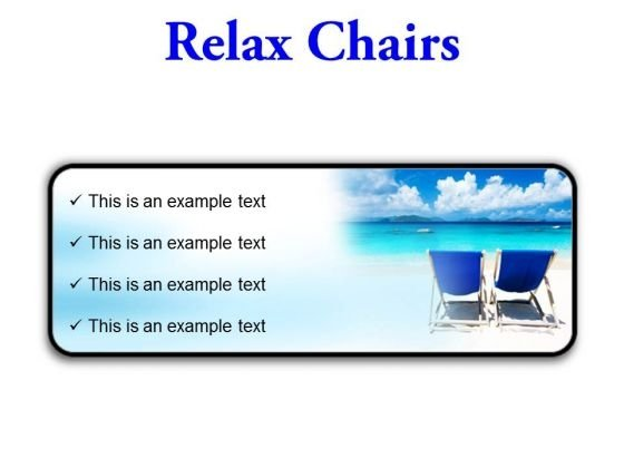 Relax Chairs Beach PowerPoint Presentation Slides R