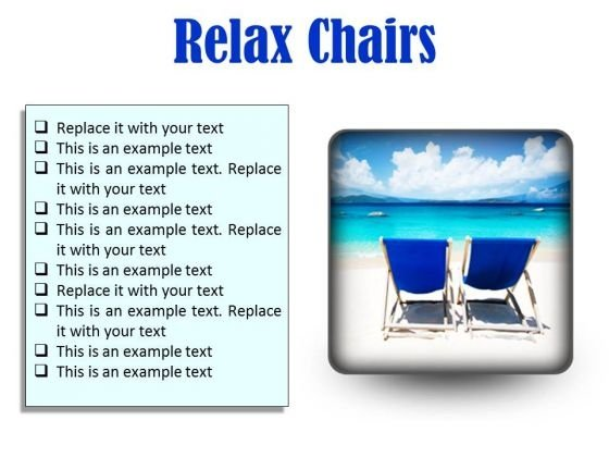 Relax Chairs Beach PowerPoint Presentation Slides S