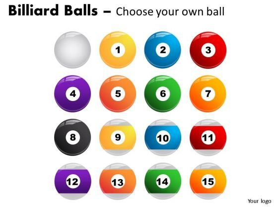 Rendering Billiard Balls With Cue PowerPoint Slides And Ppt Diagram Templates
