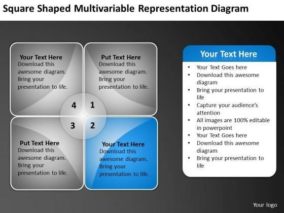 Representation Diagram Ppt Template For Writing Business Plan PowerPoint Templates