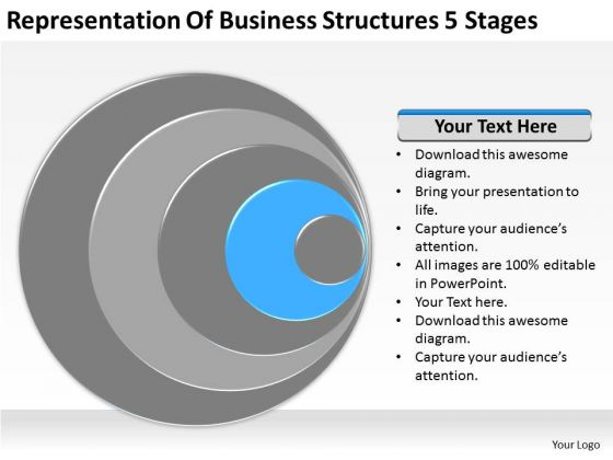 Representation Of Business Structures 5 Stages Plan Marketing PowerPoint Templates